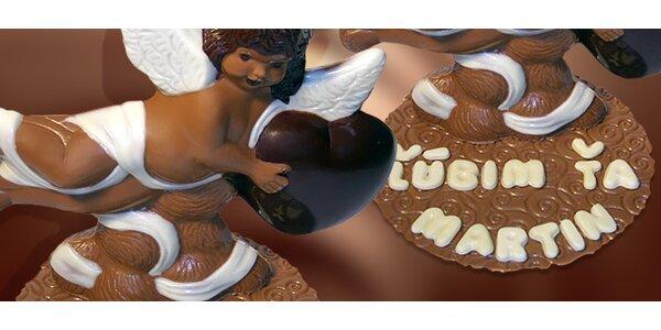 12,89 eur za čokoládového amora s venovaním alebo fotkou so zľavou 50%