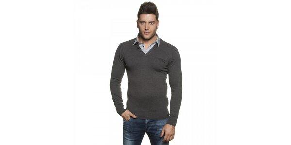 Pánsky tmavo šedý sveter Lois