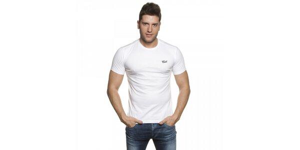 Pánske biele tričko Lois s výšivkou