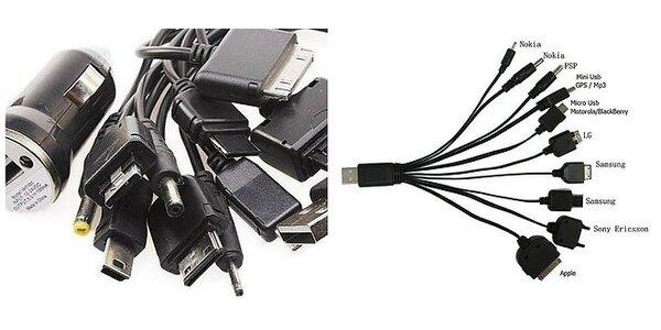 Multifunkčná 10v1 USB nabíjačka na mobilné telefóny a elektroniku + redukcia do…