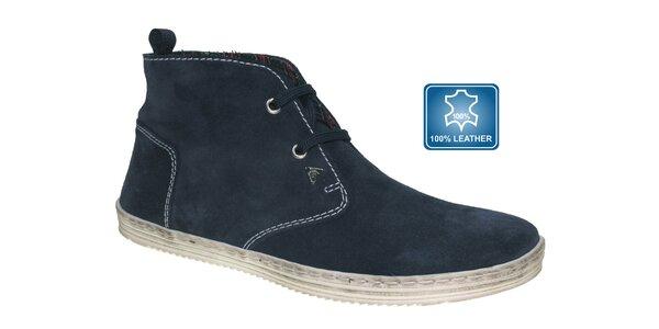 Pánske tmavo modré kotníčkové topánky Beppi