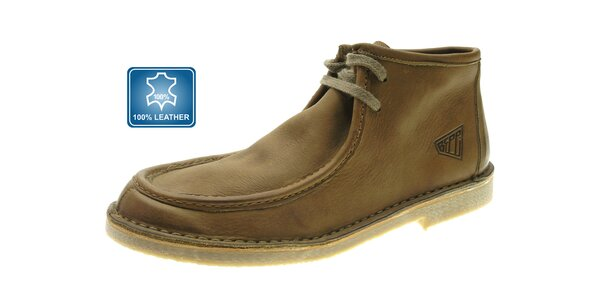 Pánske svetlo hnedé kožené topánky Beppi