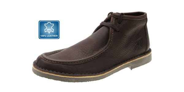 Pánske tmavo hnedé kožené topánky Beppi