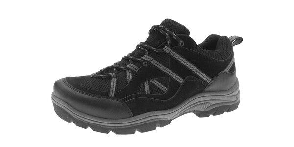 Pánske čierne trekové topánky Beppi