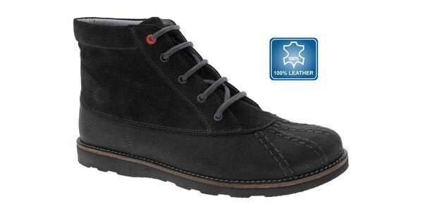 Dámske čierne kotníčkové topánky Beppi