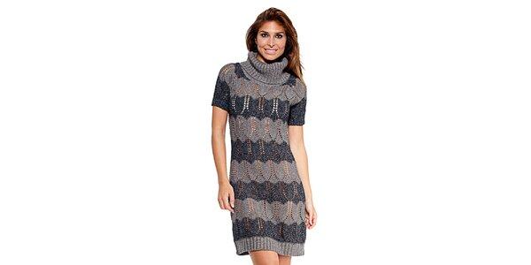 Dámske šedé pletené šaty Kool