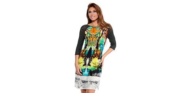 Dámske farebné šaty s digitálnou potlačou Kool
