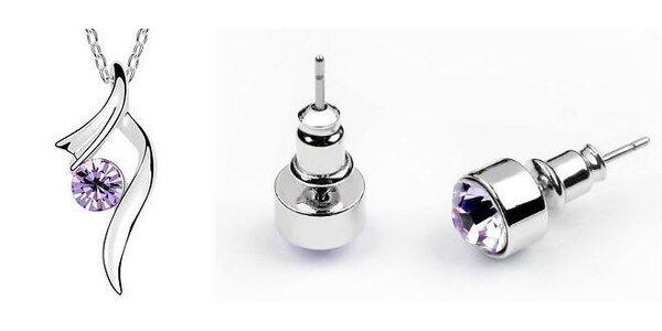 Sada elegantných náušníc + retiazka s príveskom austria krystal