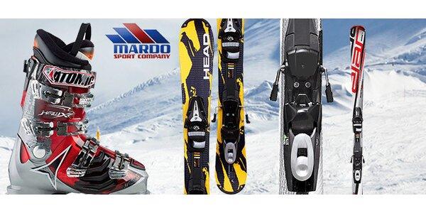 Carvingové lyže s viazaním
