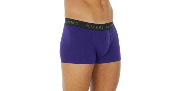 Pánske fialové bavlnené boxerky Ralph Lauren