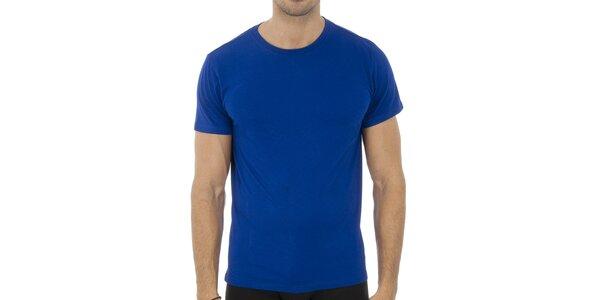 Pánske sýto modré tričko Ralph Lauren