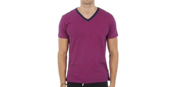 Pánske fuchsiové tričko Ralph Lauren
