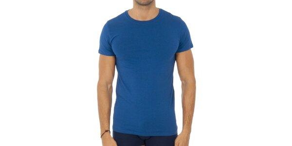 Pánske blankytno modré tričko Ralph Lauren