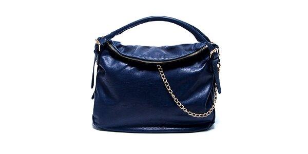 Dámska kožená modrá kabelka Renata Corsi