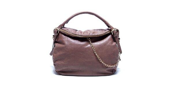 Dámska kožená hnedo-béžová kabelka Renata Corsi