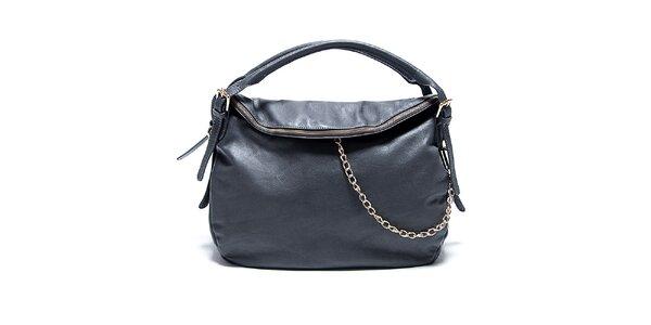 Dámska kožená šedá kabelka Renata Corsi
