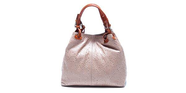 Dámska šedo-hnedá kabelka so vzorom Renata Corsi