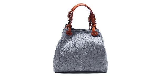 Dámska šedá kabelka so vzorom Renata Corsi