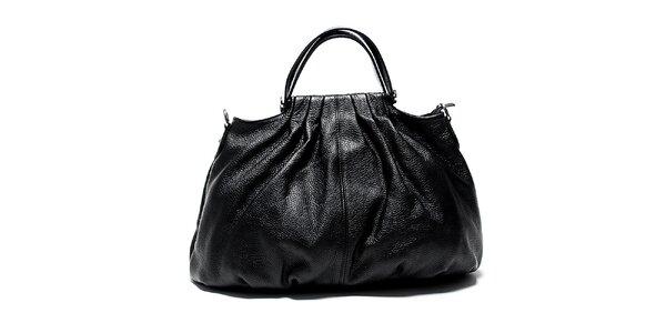Originálna čierna kožená kabelka Renata Corsi