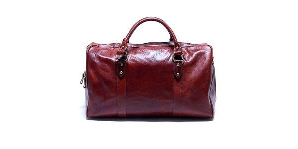 Dámska veľká hnedá kabelka Renata Corsi