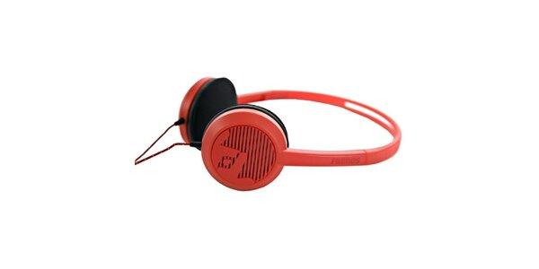 Designové červené slúchadlá Frends
