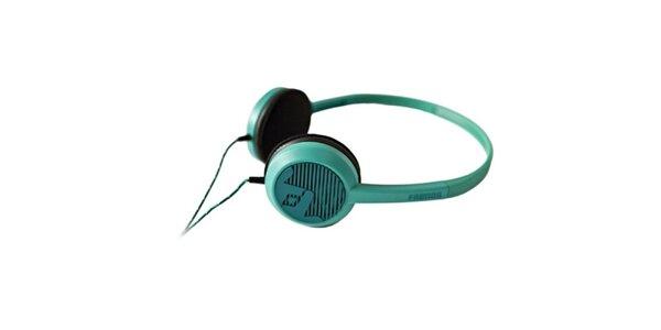 Designové modro-zelené slúchadlá Frends