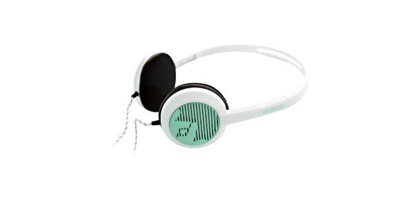 Designové bielo-zelené slúchadlá Frends