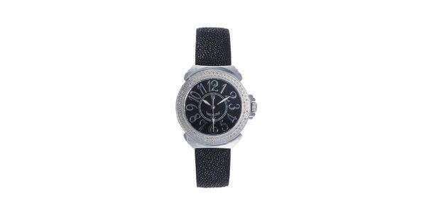 Dámske čierne analogové hodinky Lancaster s čiernym displejom