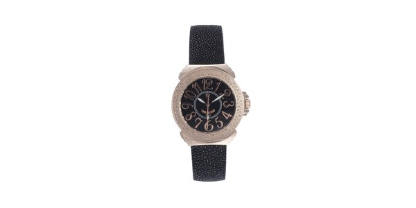 Dámske ružovo-čierne hodinky s čiernym displejom Lancaster
