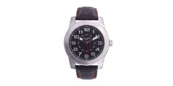 Pánske oceľové hodinky Lancaster s červenou sekundovkou
