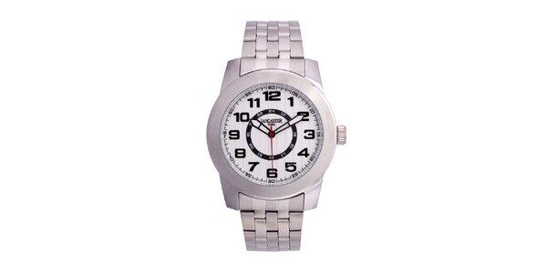 Pánske strieborné hodinky Lancaster s bielym ciferníkom