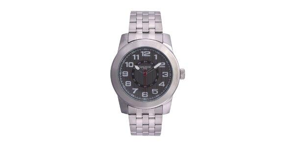 Pánske strieborné hodinky Lancaster s červenou sekundovkou