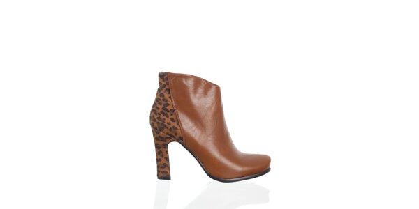 Dámskeťavie čižmy Moow s leopardím vzorom