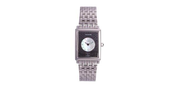 Dámske strieborné oceľové hodinky Lancaster s kryštálmi