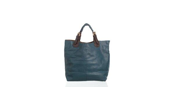 Dámska temno modrá kabelka Moow