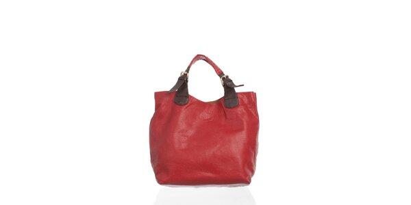 Dámska temno červená kabelka Moow