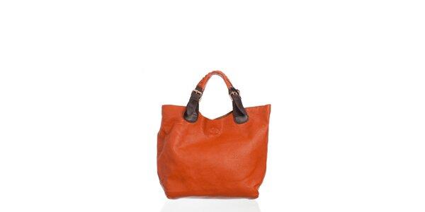 Dámska oranžová kabelka Moow