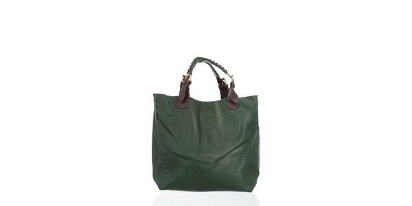 Dámska tmavo zelená kabelka Moow
