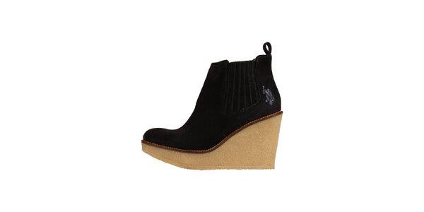 Dámske tmavé semišové topánky U.S. Polo