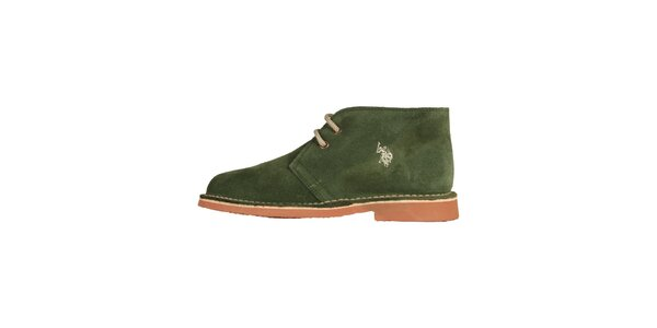 Dámske trávovo zelené šnurovacie topánky U.S. Polo