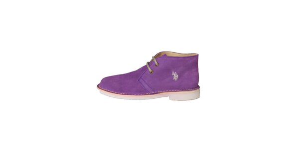 Dámske fialové šnurovacie topánky U.S. Polo