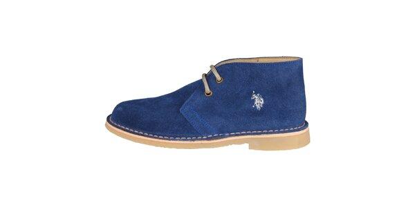 Dámske tmavo modré šnurovacie topánky U.S. Polo