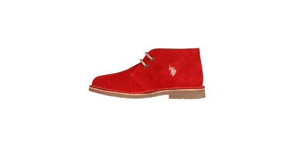 Dámske červené šnurovacie topánky U.S. Polo