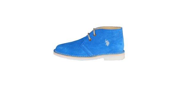 Dámske modré šnurovacie topánky U.S. Polo