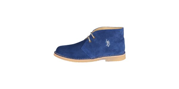 Pánske tmavo modré členkové semišové topánky U.S. Polo