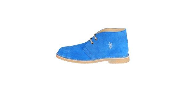 Pánske modré členkové semišové topánky U.S. Polo