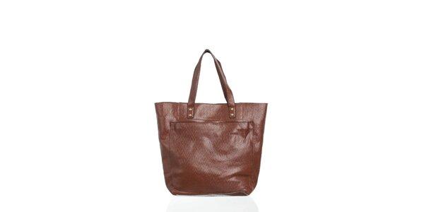 Dámska kávovo hnedá kabelka Moow