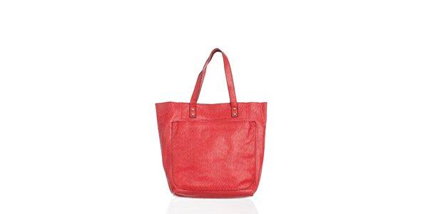 Dámska žiarivo červená kabelka Moow