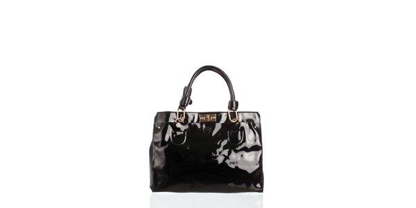 Dámska čierna lakovaná kabelka Moow