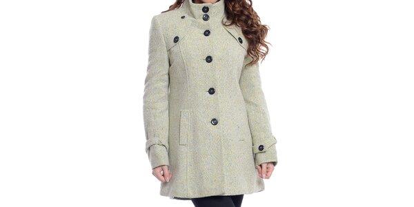 Dámsky krémovo biely kabát na gombíky Oriana